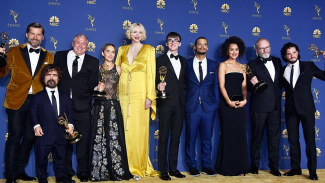 Game of Thrones, seen here winning Outstanding Drama Series at the Emmys, has been a hit. Picture: Getty