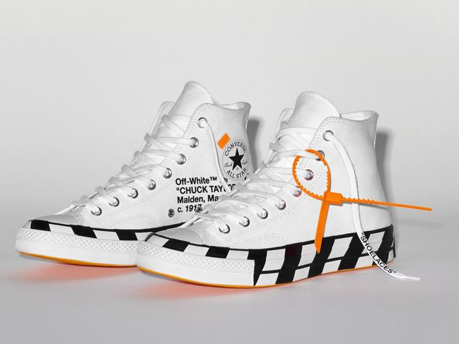 6433544c8597 Converse and Off-White  Virgil Abloh s pair of Chuck 70 open to ...