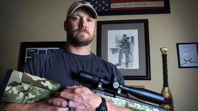 Chris Kyle was killed at a gun range in 2013. Picture: Paul Moseley/The Fort Worth Star-Telegram via AP
