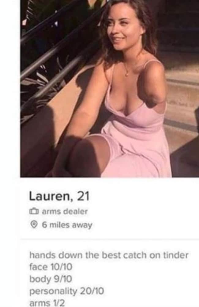 People are loving her hilarious Tinder profile.