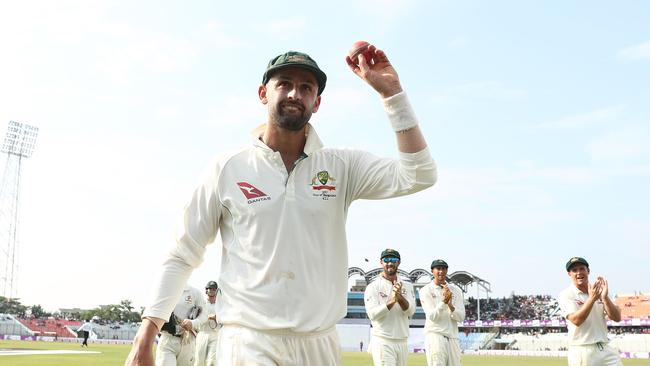 Nathan Lyon has taken more Test wickets than any bowler in 2017.