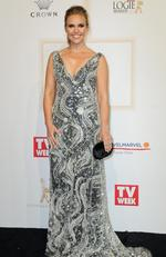 Edwina Bartholomew arrives on the red carpet at the 59th annual TV Week Logie Awards on April 23, 2017 at the Crown Casino in Melbourne, Australia. Picture: Julie Kiriacoudis