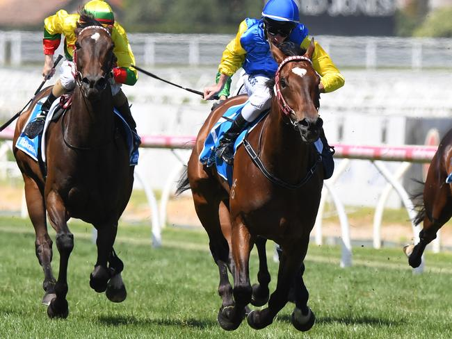 Popular galloper Black Heart Bart takes out the Group 1 Futurity Stakes in 2017.