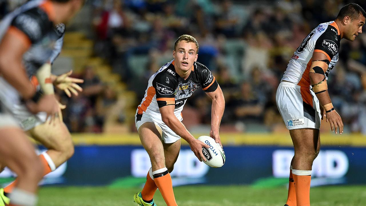 NRL North Queensland Cowboys v West Tigers. Tigers Jacob Liddle