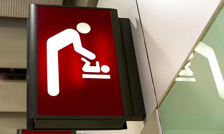 SURVIVING A PUBLIC POO EXPLOSION. You know the one. This type of poo is like an avalanche that just keeps seeping out of your baby's nappy. When it happens while out in public, you need to think and act fast - find that parent's room STAT!