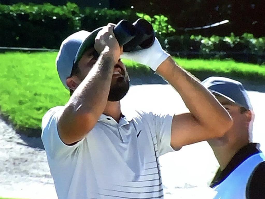 Jason Day needed binoculars to find his ball.