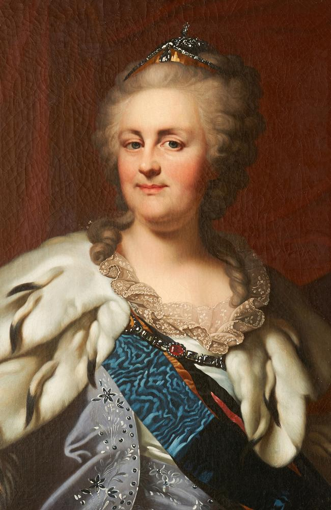 Catherine the Great, Empress of Russia, circa 1791, attributed to Johann Baptist Lampi the Elder. Supplied by the David Roche Museum