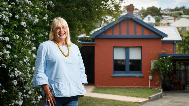 Jennifer Weaver at her North Hobart home. Picture: Peter Mathew