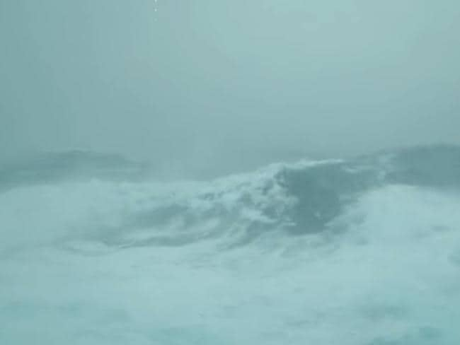 Huge waves hit the vessel. Picture: Storyful