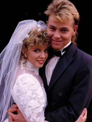 Kylie Minogue and Jason Donovan in Neighbours. Picture: Supplied