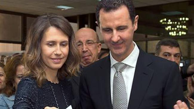 Asma al-Assad has been nicknamed 'the Lady of Death'. Picture: AFP Photo