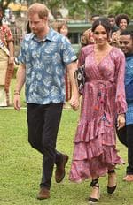 OCTOBER 24, 2018 - Where: Suva, Fiji. Wearing: Figue dress and Castañer espadrilles. Picture: Peter Parks/AFP