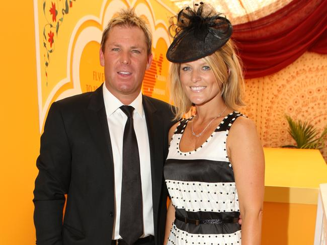 Former couple Shane Warne and Simone Callahan in 2009.