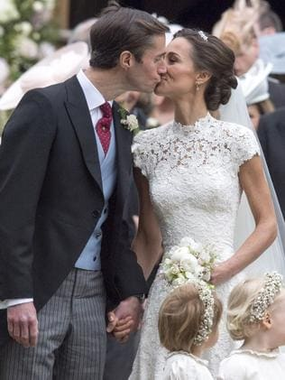 Pippa Middleton and James Matthews on their wedding day in 2017. Picture: Getty Images
