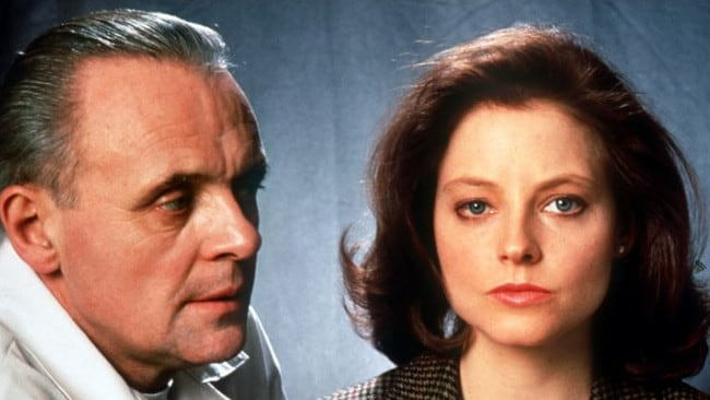 Jodie Foster teamed up with Anthony Hopkins for the terrifying Silence of the Lambs.