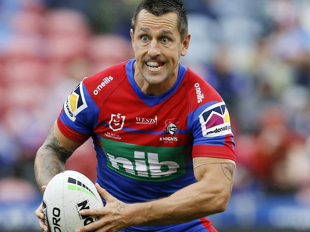 Mitchell Pearce  of the Knights during the Round One NRL match between Newcastle Knights and New Zealand Warriors at McDonald Jones Stadium in Newcastle, Saturday, March 14, 2020. (AAP Image/Darren Pateman) NO ARCHIVING, EDITORIAL USE ONLY