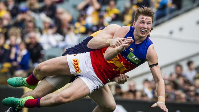 Alex Witherden of the Brisbane Lions showed promise in 2017.