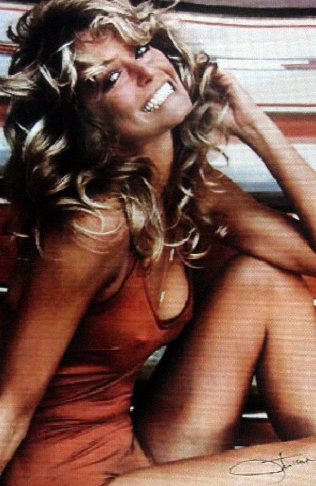 Fawcett was an iconic 1970s pin-up.