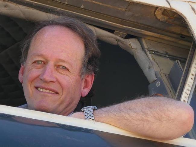 Qantas pilot Douglas Haywood was injured in the plane crash. Picture: Facebook
