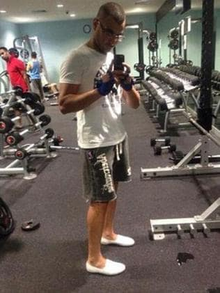Mohammad Kiad spent a lot of time at the local gym. Picture: Facebook