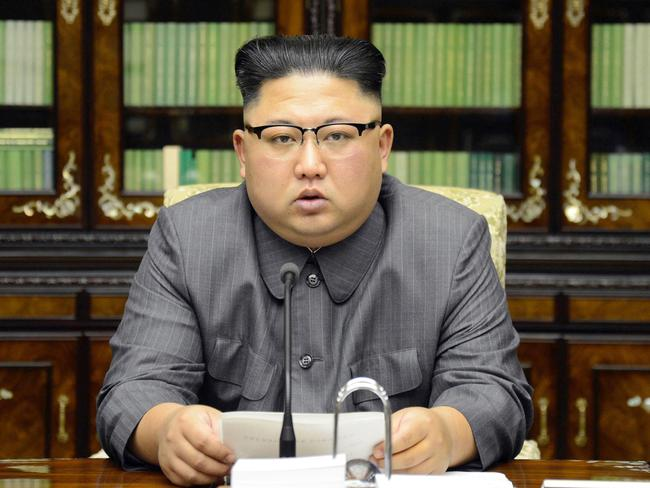 North Korean leader Kim Jong-un has ramped up his war of words with US President Donald Trump. Picture: KCNA/AP