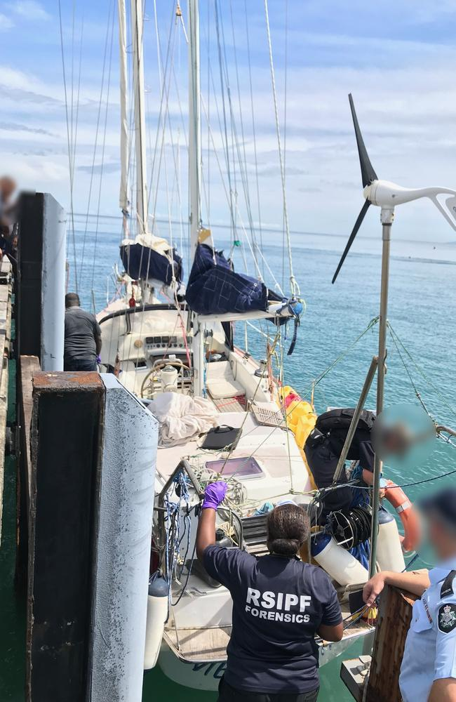 The Australian Federal Police allege the large vessel travelled from South America across the Pacific Ocean.
