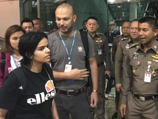 "Rahaf Mohammed Alqunun begged Australia to approve her asylum bid, claiming she was trying to escape her ""abusive"" family."