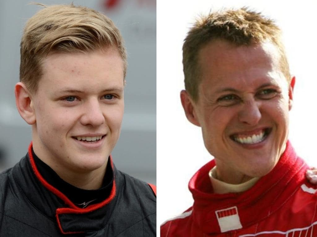 Mick Schumacher and Michael Schumacher.