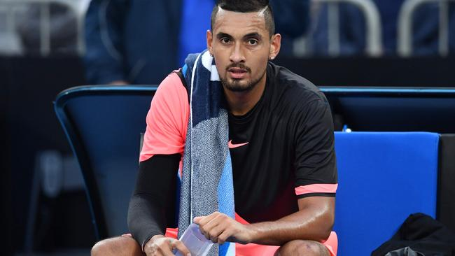 Nick Kyrgios had to fend off a bizarre question from a journalist.