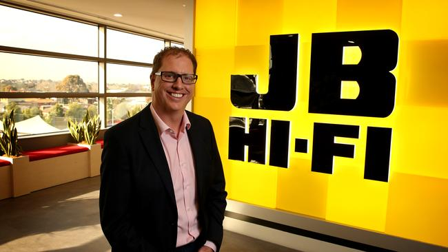 Richard Murray, JB Hi-Fi's chief, said it was a record year of sales and earnings. Picture: Stuart McEvoy
