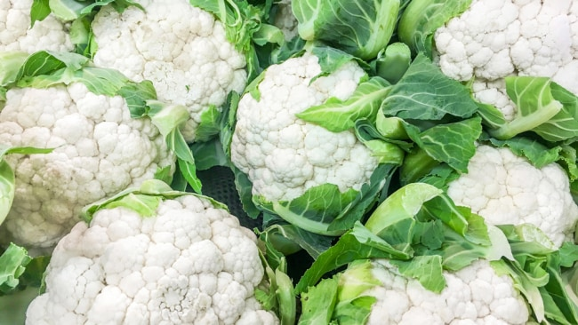 Cauliflower is low in calories, fat and carbs. Image: iStock.
