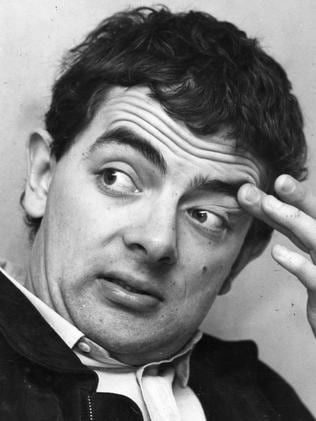 Rowan Atkinson back in the 1980s at a press conference at the Adelaide Airport. Picture: Supplied.