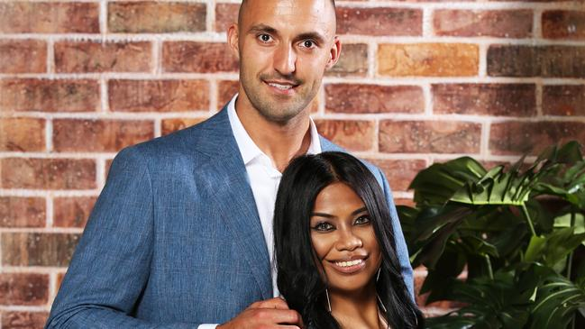 Nic Jovanovic and Cyrell Paule didn't last – but Cyrell moved on with another reality star. Picture: Channel 9.