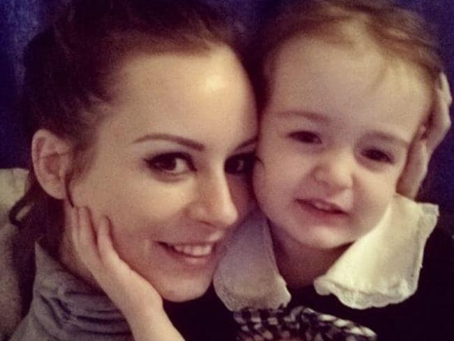 Sarah with her daughter Isabella. Picture: Supplied