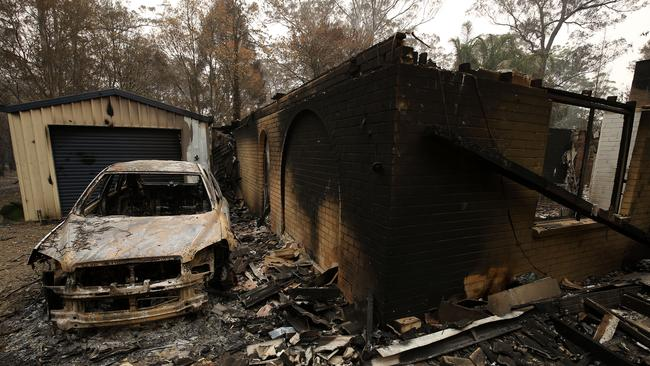 More than 300 homes have been destroyed by fires, with Hillville badly hit. Picture: AAP/Darren Pateman