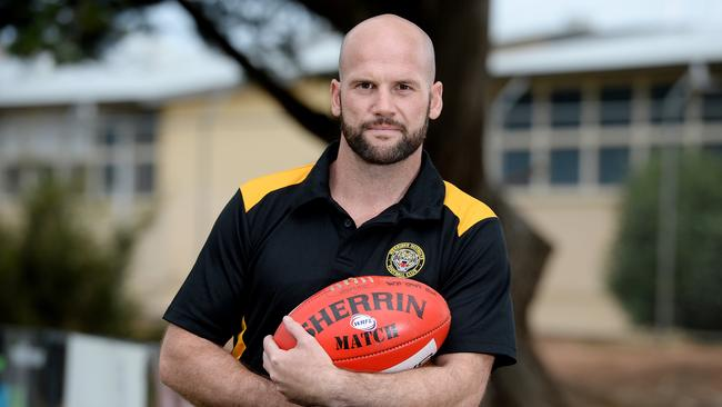 Ex-Geelong and Essendon player Paul Chapman is the new coach at Werribee Districts Football Club. Picture: David Smith