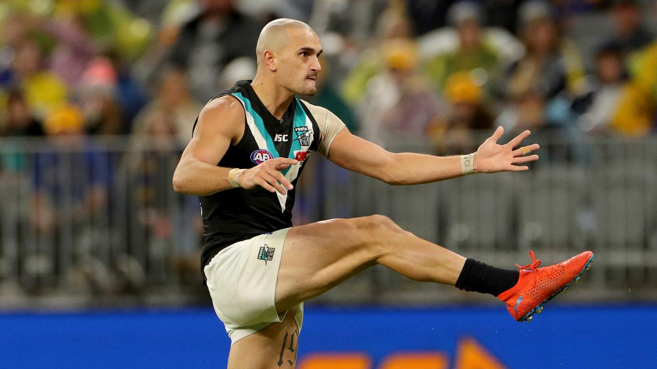 Sam Powell-Pepper of the Power has attracted interest from Essendon.