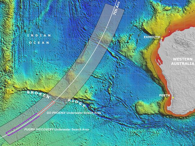 The latest MH370 update ... marks out the search areas designated for vessels GO Phoenix and Fugro Discovery.