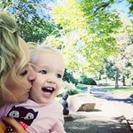 MOTHER'S DAY SPECIAL... Radio personality Fifi Box with her daughter Beatrix Belle. Picture: Instagram