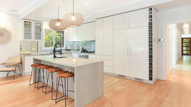 The stylish kitchen at the recently sold home.