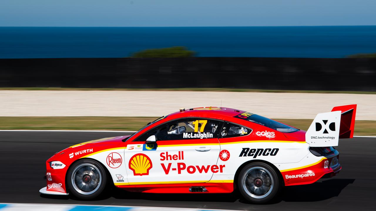 Scott McLaughlin led the race from start to finish.