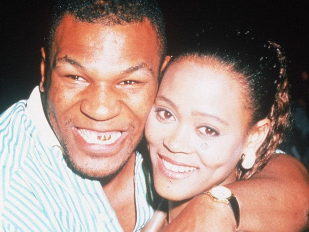 12/01/1996 PIRATE: Mike Tyson and wife Robin Givens. Undated.