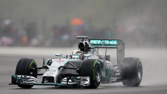 Mercedes-AMG's German driver Nico Rosberg during the third practice session at Silverstone.