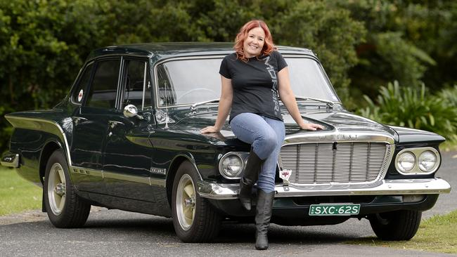 Kathryn ready to show off her pride and joy Valiant at