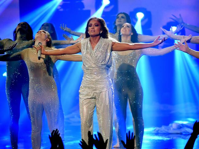 JLo performed Limitless - which was penned by Sia. Picture: Getty Images