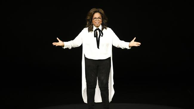Apple's event was big on star power with celebs like Oprah spruiking the new service. Picture: Michael Short/Getty Images)