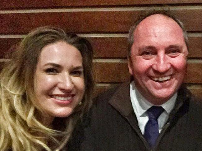 Barnaby Joyce refused to acknowledge his new partner Vikki Campion this week.