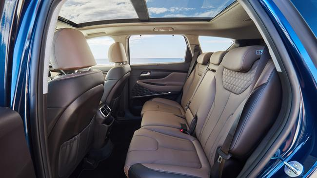 Second row: Massive sunroof and one-touch release to get access to …