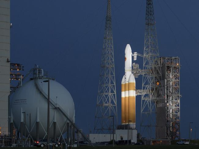 The historic flight of the Delta IV Heavy rocket with the Parker Solar Probe to the Sun has been delayed until tomorrow. Picture: Bill Ingalls/NASA via AP