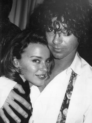 Minogue and Hutchence pictured in 1991. Picture: Robert Rosen